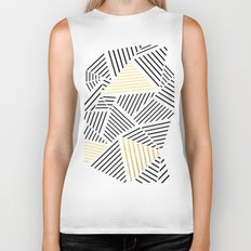 A Linear White Gold New Biker Tank