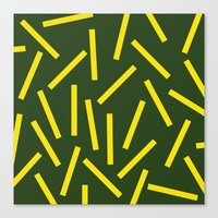 fries Canvas Prints featuring Fries by Alberto Antoniazzi
