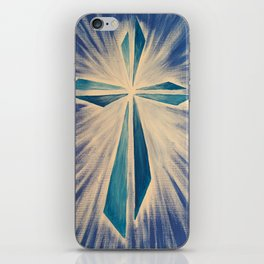 Radiant Blue Cross iPhone Skin
