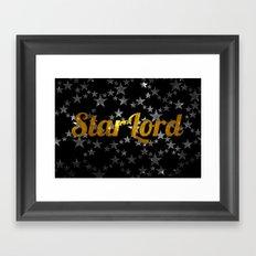 Golden Star Lord Framed Art Print