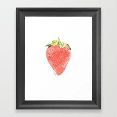 La Fraise Framed Art Print