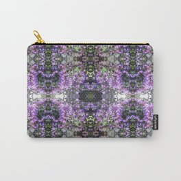 Purple Hedge Flower Multi Fractal Carry-All Pouch