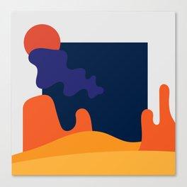 Desert Scene Canvas Print