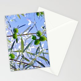 Olives in the sunshine Stationery Cards