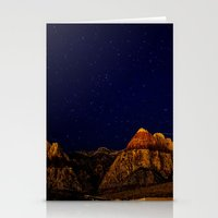 night sky Stationery Cards featuring night sky by haroulita