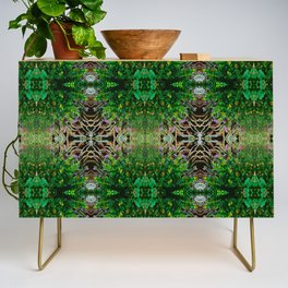 Cocoplum and Cattails op nature pattern Credenza
