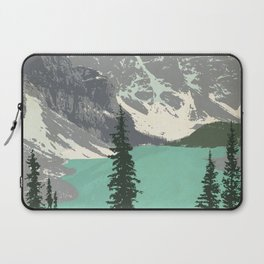 Moraine Lake Poster Laptop Sleeve
