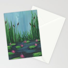 Cattails and Water Lilies Stationery Cards
