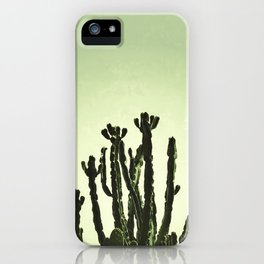 Wild Cactus Green iPhone Case