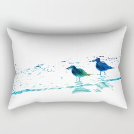 Seagull Art - On The Shore - By Sharon Cummings Rectangular Pillow