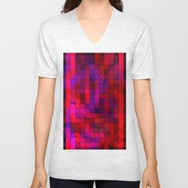 Re-Created Laurels XII by Robert S. Lee Unisex V-Neck