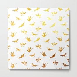 Golden Birds Metal Print