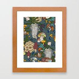 mushroom forest Framed Art Print