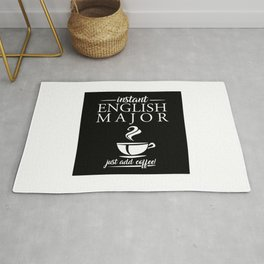 Instant English Major Just Add Coffee Rug