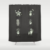sheep Shower Curtains featuring Sheep by Lili Batista