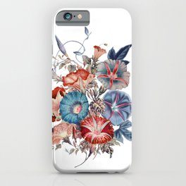 Morning Glories Flower Bouquet iPhone Case