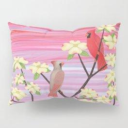 cardinals and dogwood blossoms Pillow Sham
