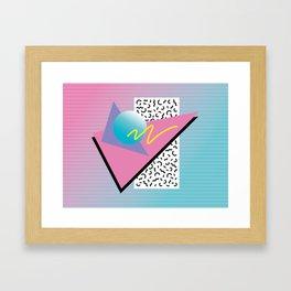 Memphis pattern 41 - 80s / 90s Retro Framed Art Print