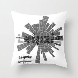 Leipzig Map Throw Pillow