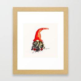 Christmas Swedish Gnome Framed Art Print