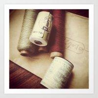 vintage threads Art Print