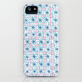 Plaza Inspired Tile Pattern iPhone Case
