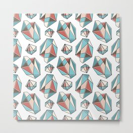 Diamonds are forever Pattern 3 Metal Print