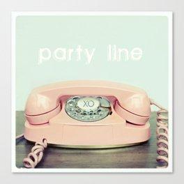 Party Line Canvas Print