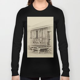 Antique plate style old loading dock Long Sleeve T-shirt