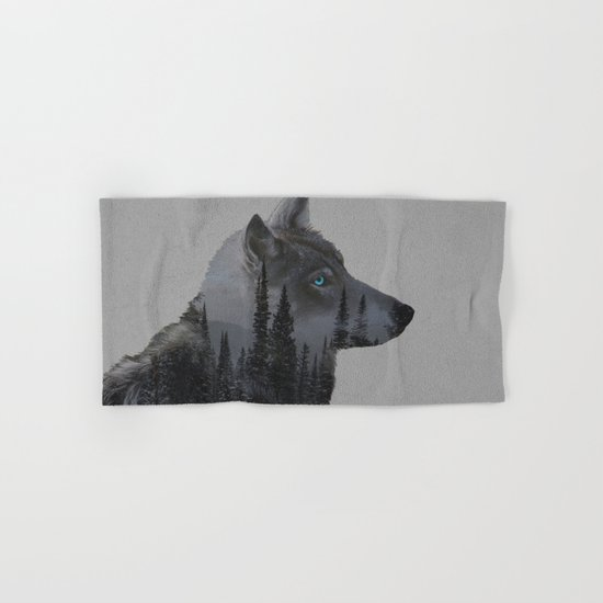 Winter Wolf Hand & Bath Towel