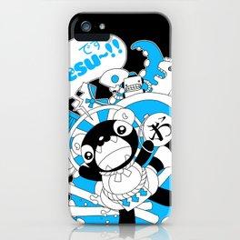 Desu~!!: Blue iPhone Case