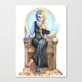 Hel, Norse Goddess of the Underworld Canvas Print