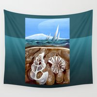 geology Wall Tapestries featuring The Geology of Boating by Patricia Howitt