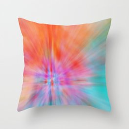 Abstract Big Bangs 002 Throw Pillow