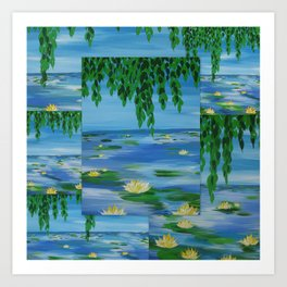 monet style collage Art Print