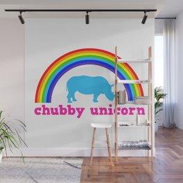 Chubby unicorn Wall Mural