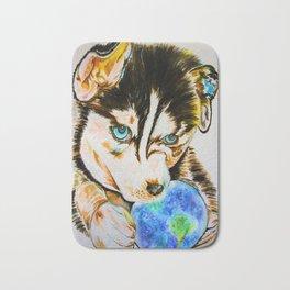Arien - The Dreaming Husky Bath Mat