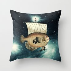 5 Weeks in A Yellow Fish Throw Pillow