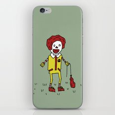 Sad Ronald McDonald In A Field iPhone & iPod Skin