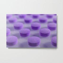Violet Pills Pattern Metal Print