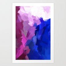 BLOSSOMS - PURPLE Art Print