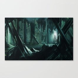Drowned city Canvas Print