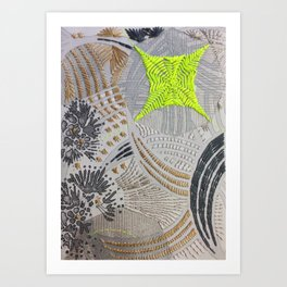Oh! Embroidered 2 Art Print