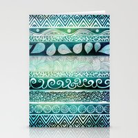 pen Stationery Cards featuring Dreamy Tribal Part VIII by Pom Graphic Design