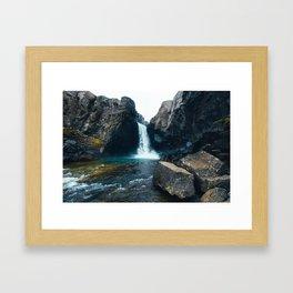 Unnamed Waterfall, Iceland Framed Art Print