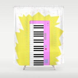Keyboard Shredding Shower Curtain