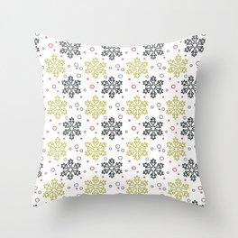 Christmas Snowflakes Pattern 2 Throw Pillow