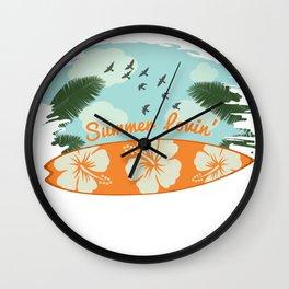 summer surfboards Wall Clock