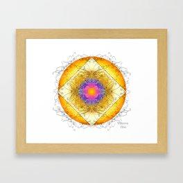 Mandala Blanca Framed Art Print