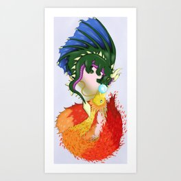 The Dragon And The Phoenix Art Print